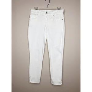 NYDJ Ami Skinny Ankle White Lift Tuck Jeans